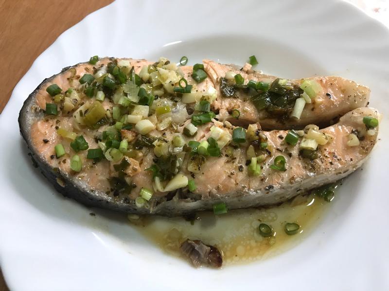 萬用鍋 義式奶油鮭魚
