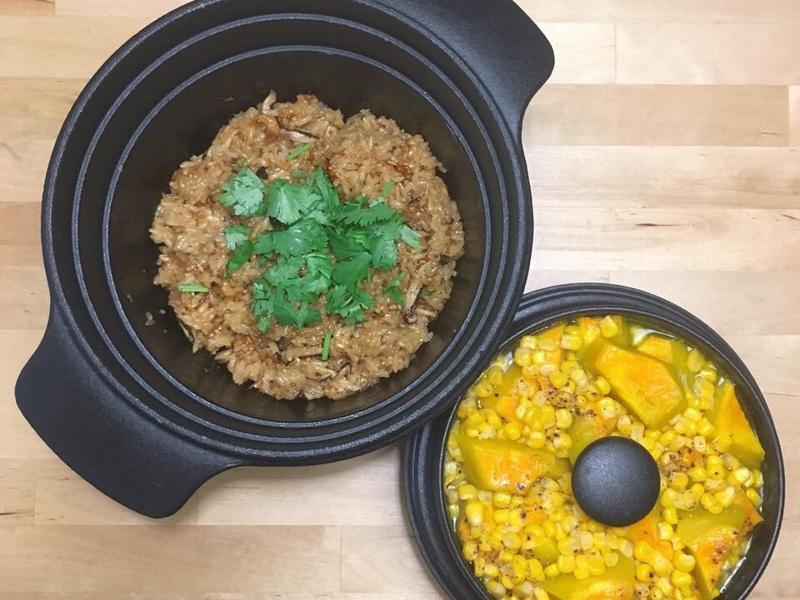 古早味油飯+黃金南瓜奶油玉米