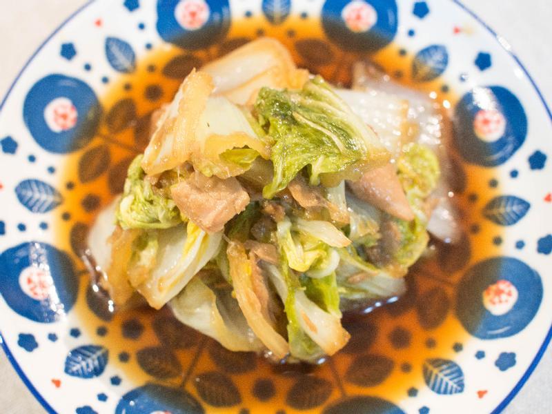 鮪魚罐頭滷白菜