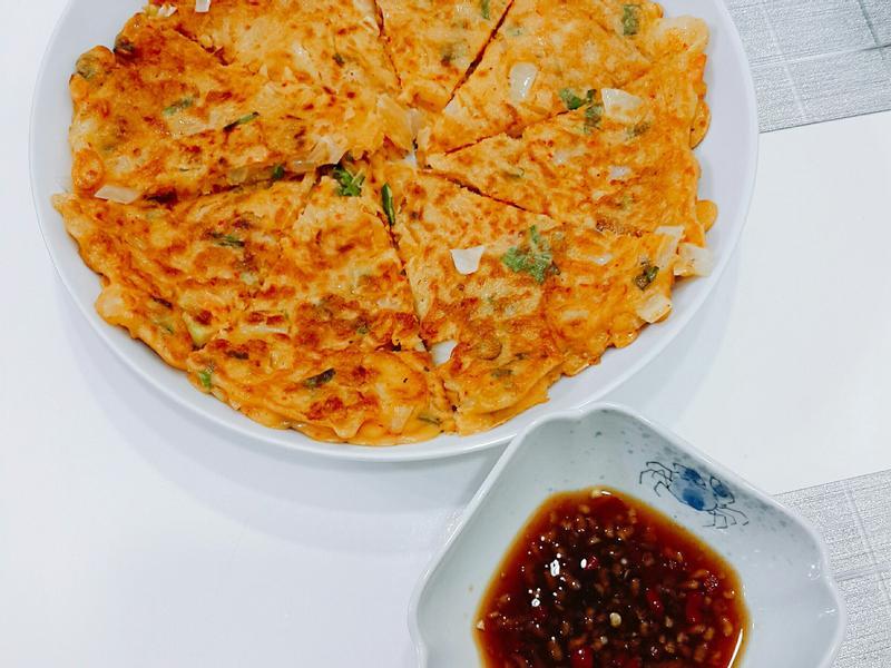 韓式泡菜煎餅+沾醬
