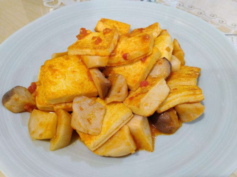 番茄香煎蛋豆腐