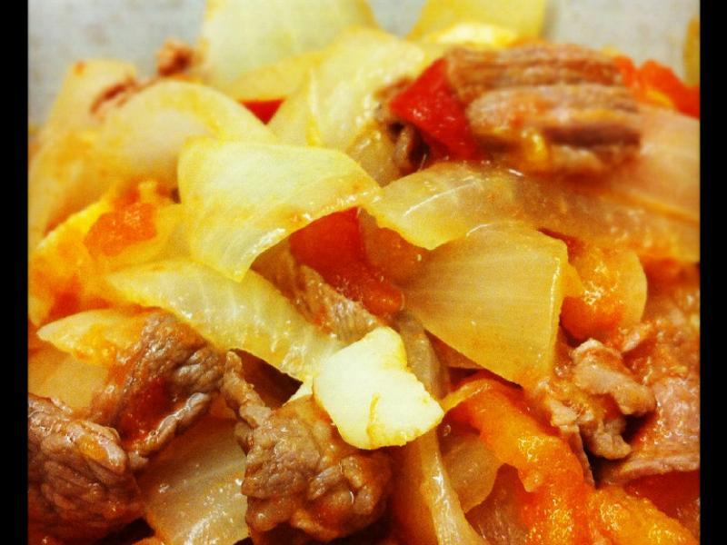 洋蔥番茄炒牛肉