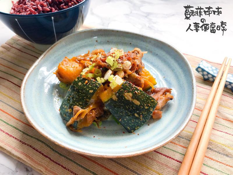 日式燉南瓜豬肉片