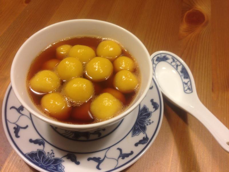 焦糖南瓜薑汁湯圓