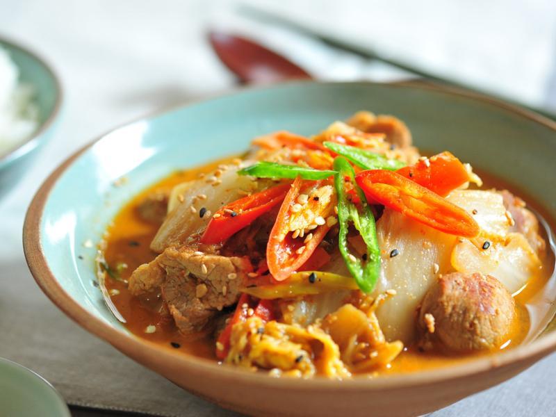 韓式白菜燉豬前腿肉 배추앞다릿살씸