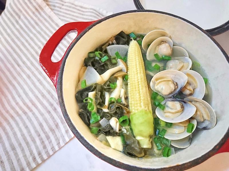 味噌白蘿蔔菇菇蛤蜊湯🍲蛤蠣快速吐沙秘訣