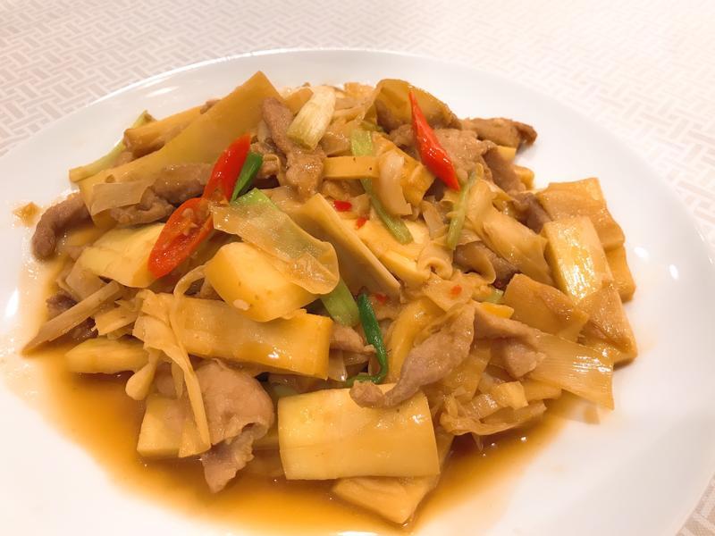 肉絲炒桂竹筍