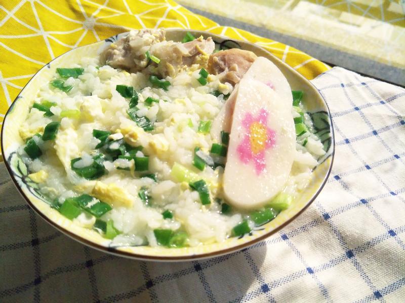 蛋花蔥雞湯粥