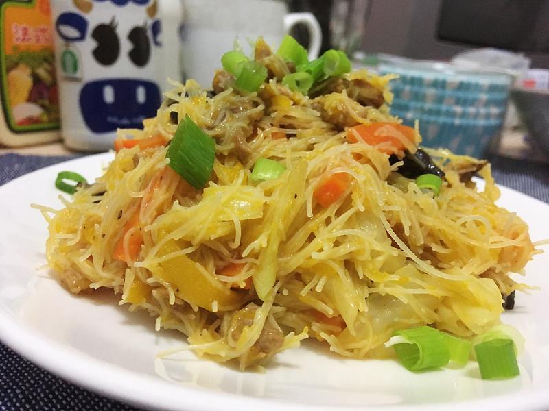 南瓜炒米粉