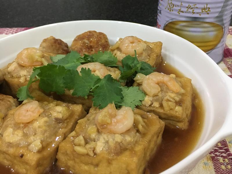 蝦仁油豆腐鑲肉