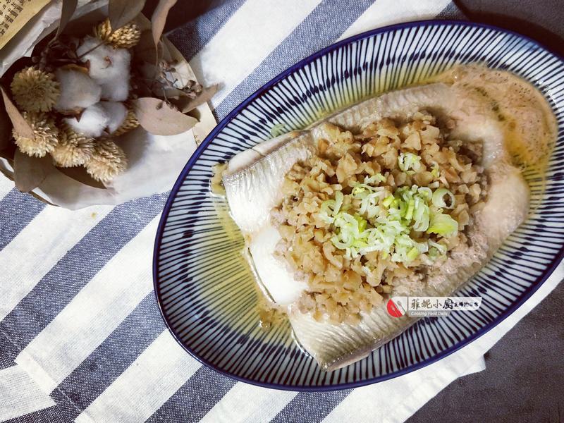 菜脯蒸魚【電鍋料理】