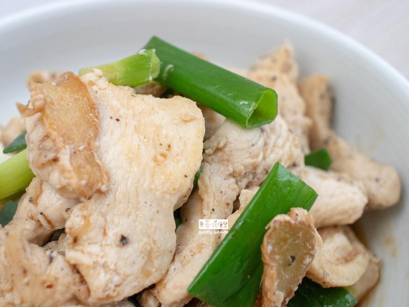 《麻油蔥薑雞肉片》