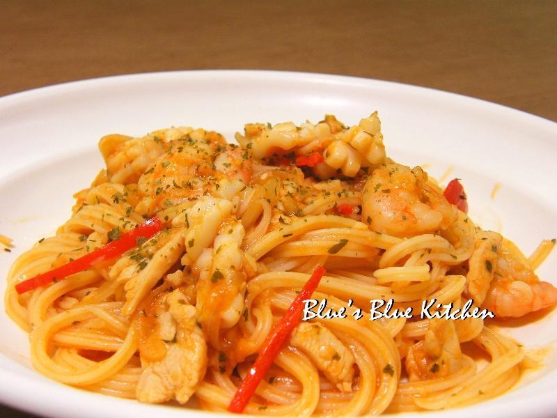 香蒜海鮮pasta
