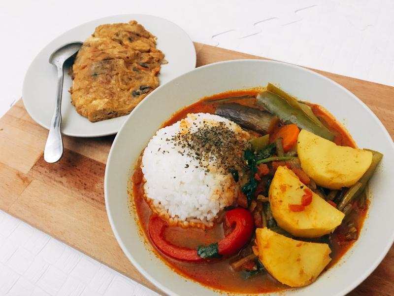 (全素)泰式咖哩飯