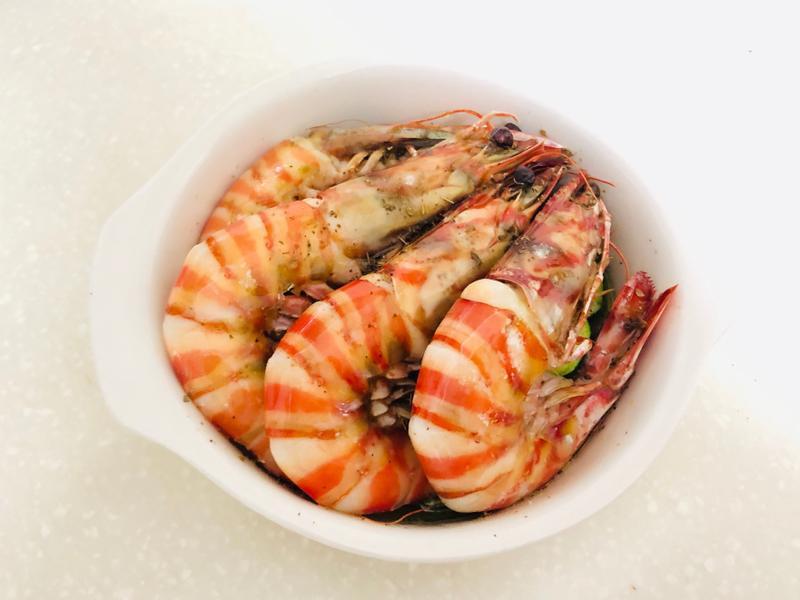 [親子共食]櫛瓜烤明蝦