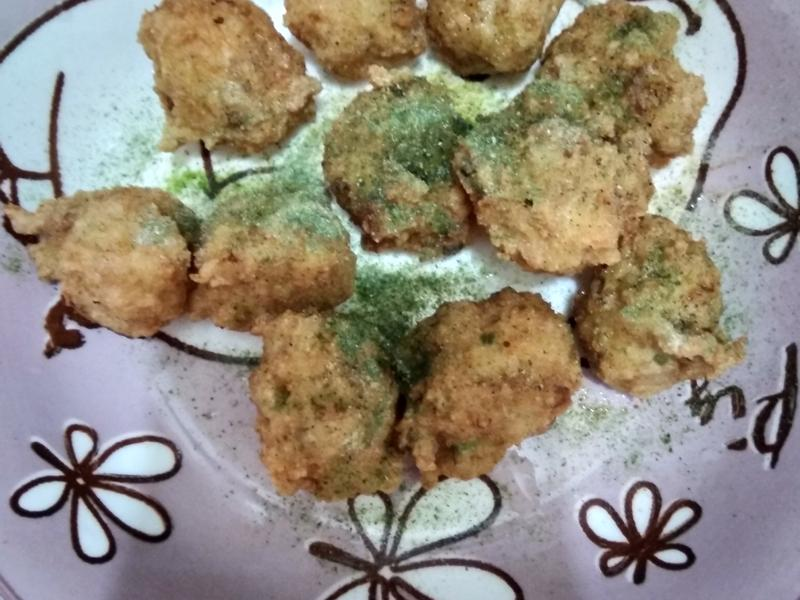 海苔葵椒炸豬肉丸子