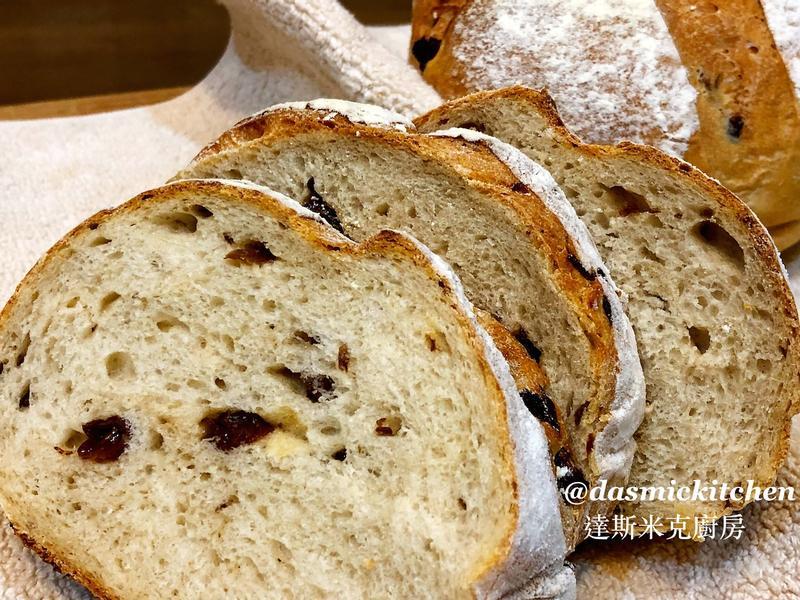 全麥葡萄乾麵包  ~附『實作影片』~