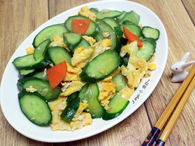 小黃瓜炒蛋(簡單家常)