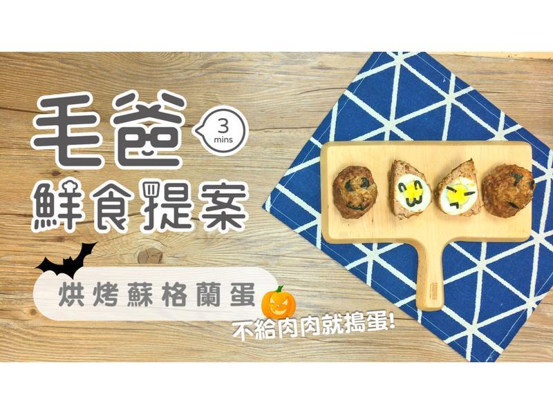 【毛爸鮮食】烘烤蘇格蘭蛋 (寵物料理)