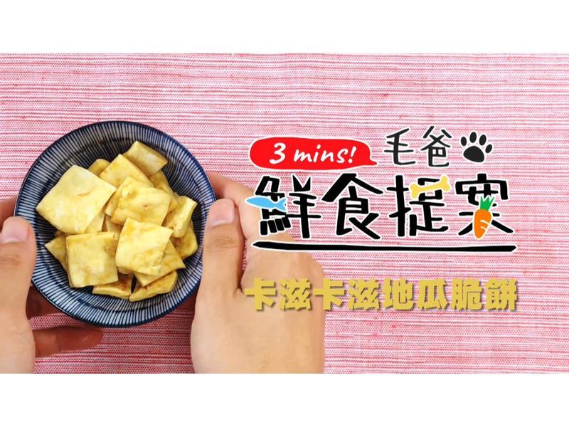 【毛爸鮮食】卡滋地瓜脆餅 (寵物料理)
