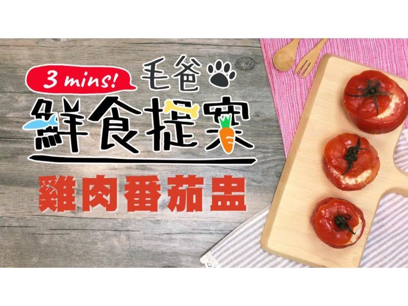 【毛爸鮮食】雞肉番茄盅 (寵物料理)