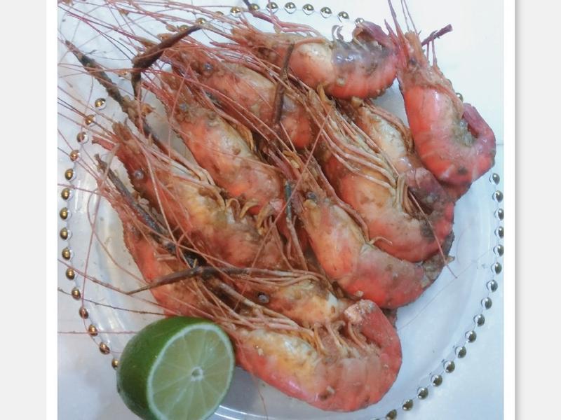 檸檬蒜胡椒蝦