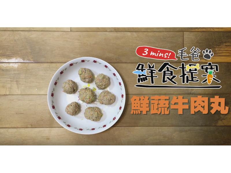 【毛爸鮮食】鮮蔬牛肉丸 (寵物料理)