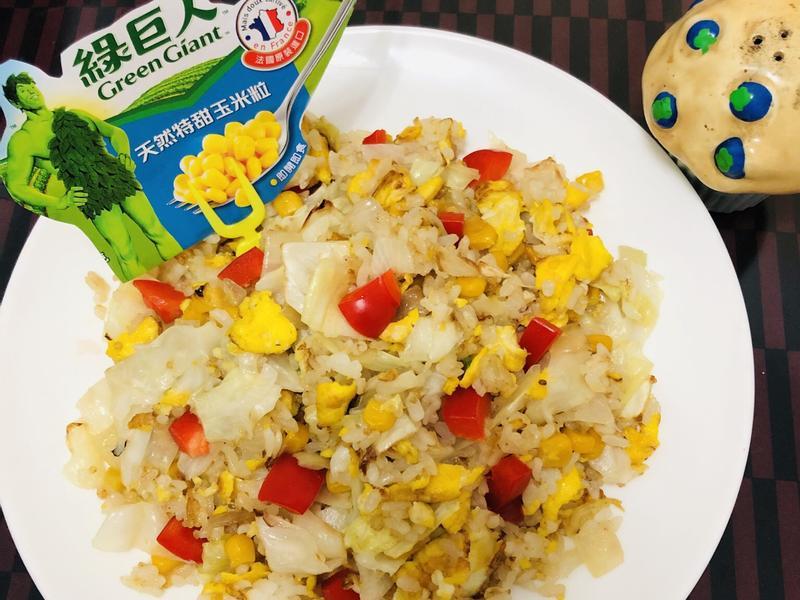 綠巨人炒飯(蛋奶素)