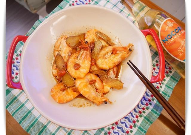 香氣濃郁「麻油蝦」簡單好吃 ♡