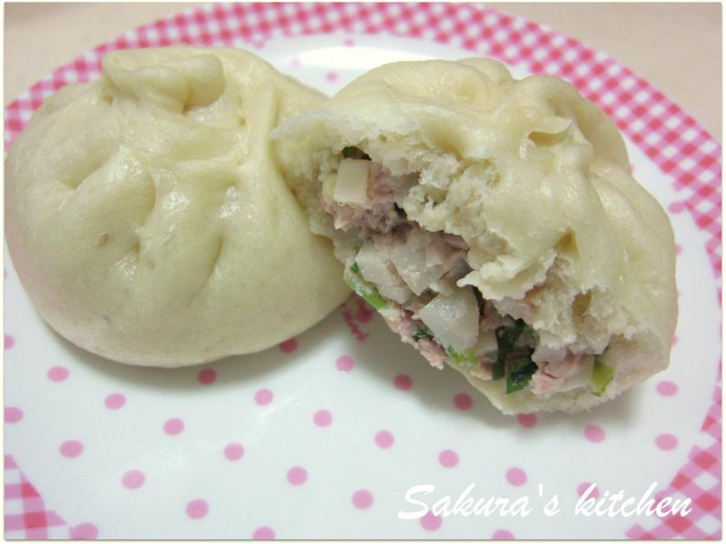 ♥我的手作料理♥雪菜竹筍包