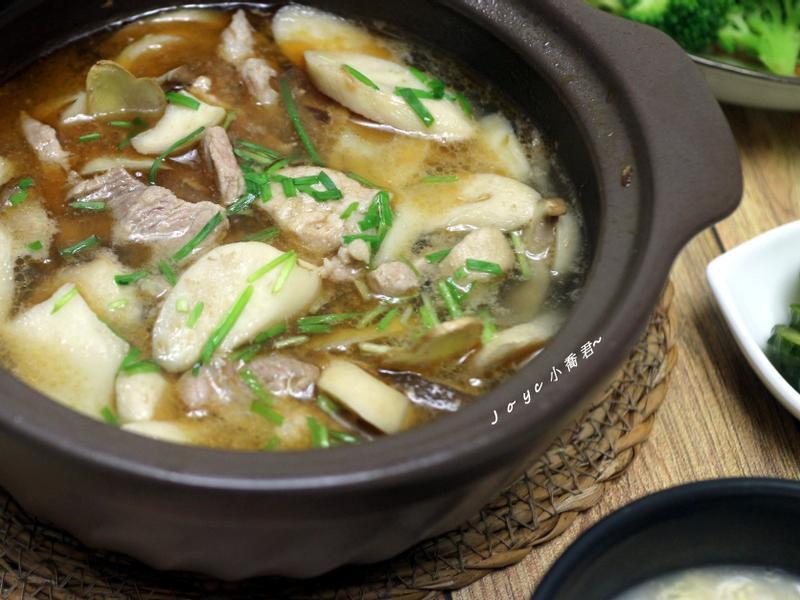菇菇豬麻油米酒(簡單溫暖菜10分鐘上菜)