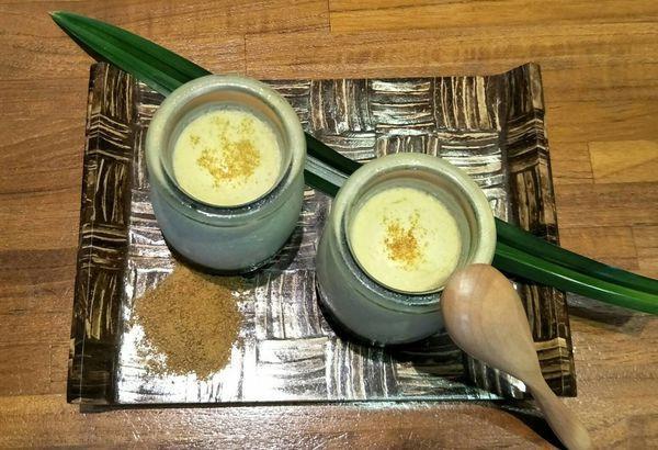 南洋料理達人劉明芳--椰糖斑蘭葉烤布丁