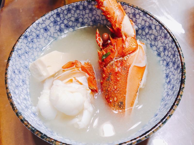 龍蝦味噌湯+龍蝦處理