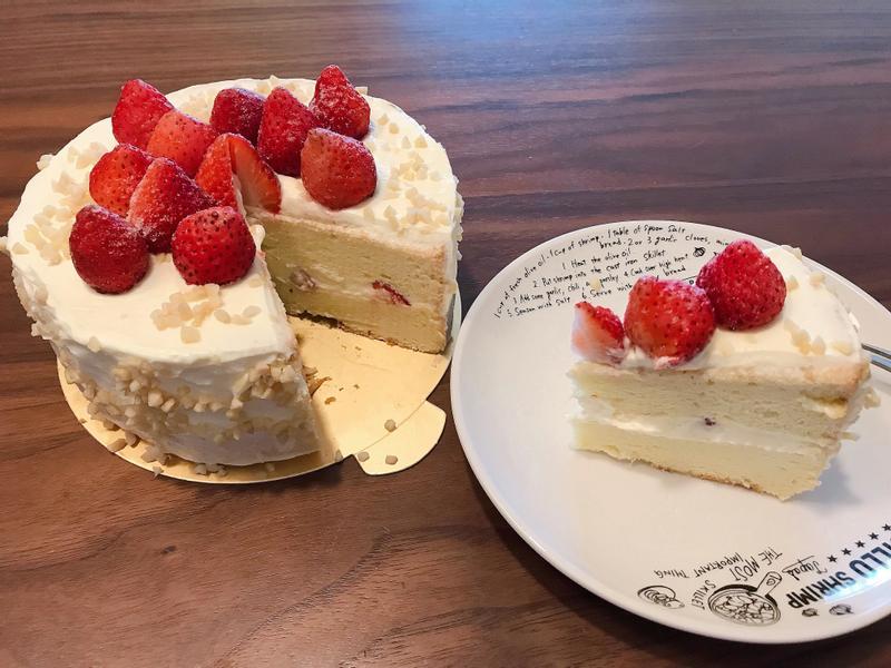 草莓鮮奶油蛋糕🍰(燙麵法)