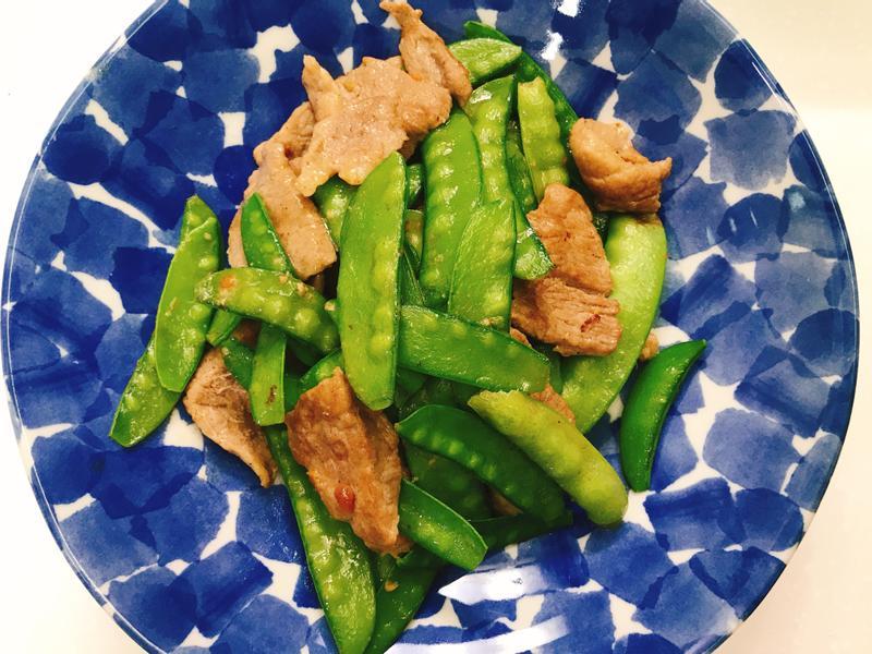 お弁当-190225-甜豆炒肉片