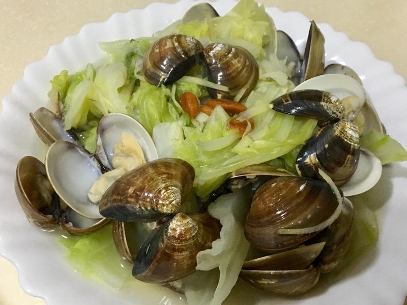 枸杞蛤蜊高麗菜(電鍋美食)