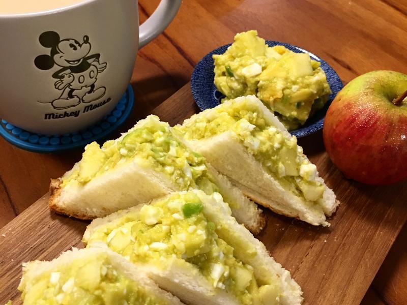 酪梨蘋果雞蛋三明治