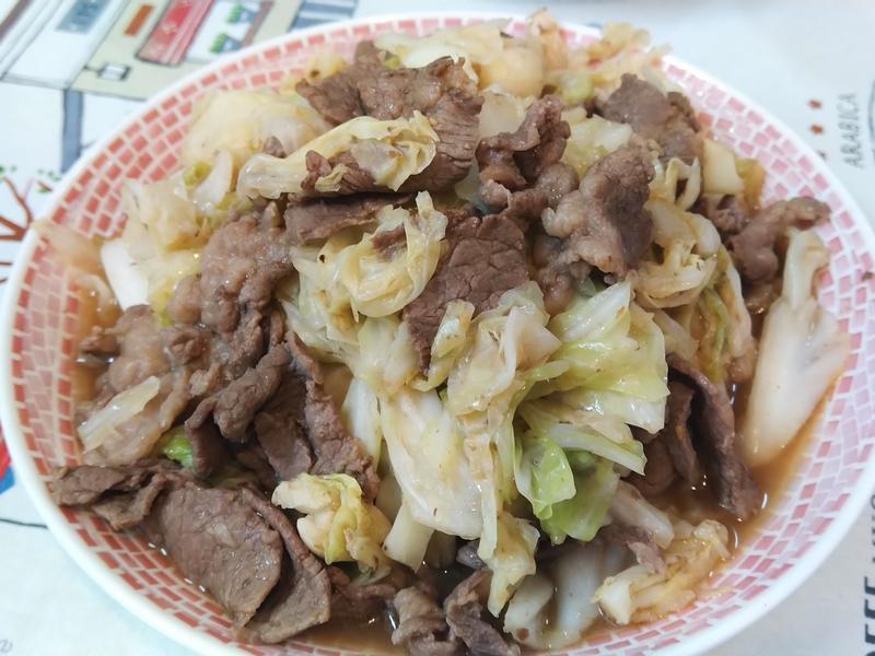 蠔油沙茶高麗菜牛肉