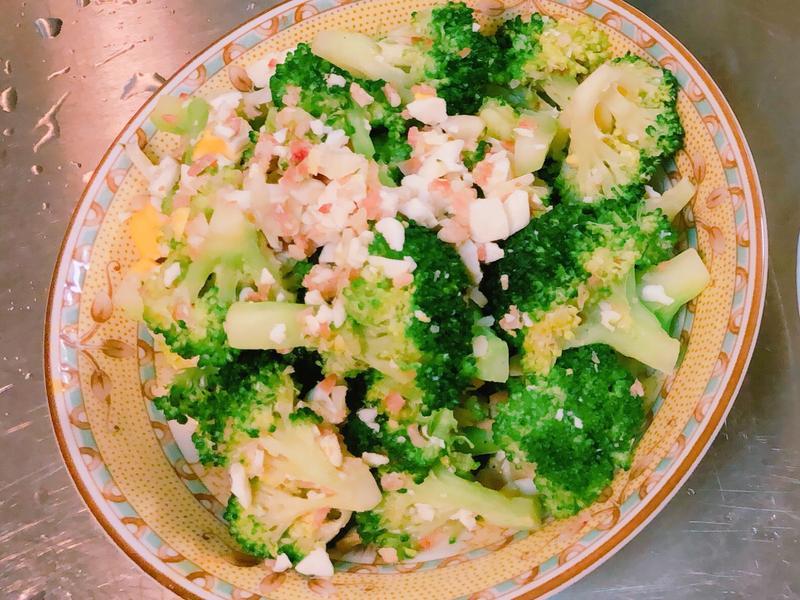 鹹蛋培根花椰菜