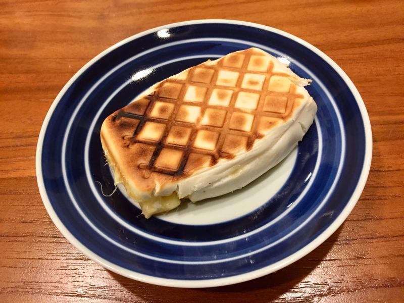 起司鮮奶饅頭偽帕尼尼~ 熱壓三明治機版