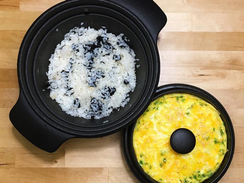 海苔拌飯+起司香蔥蛋
