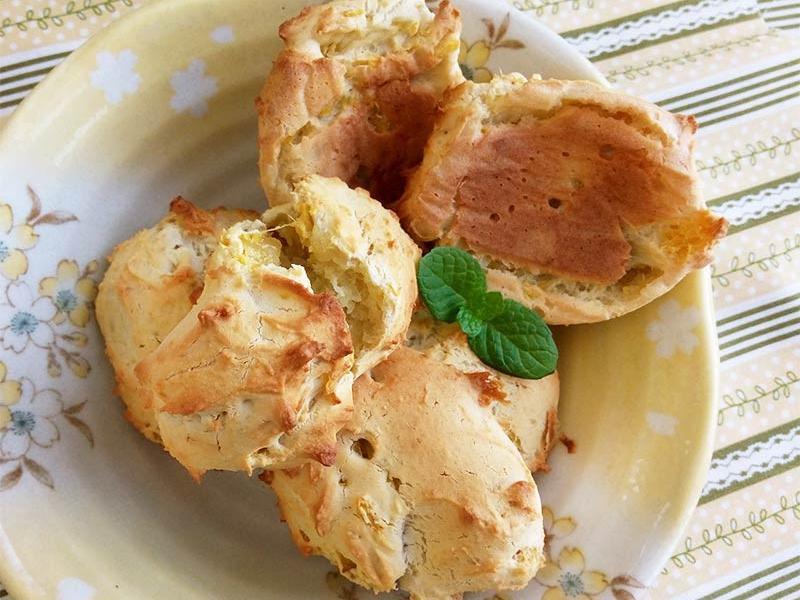 地瓜麻糬麵包。拌拌就好的麻糬口感麵包