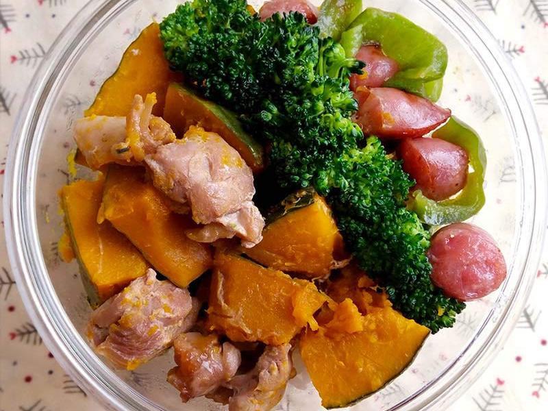 醬香南瓜蒸雞〞簡易電鍋料理