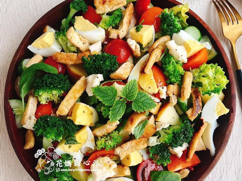 豆腐鮮蔬香檸沙拉(零廚藝蔬食料理)