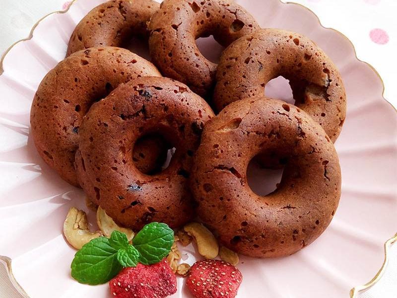 巧克力甜甜圈♥無蛋配方,發酵版