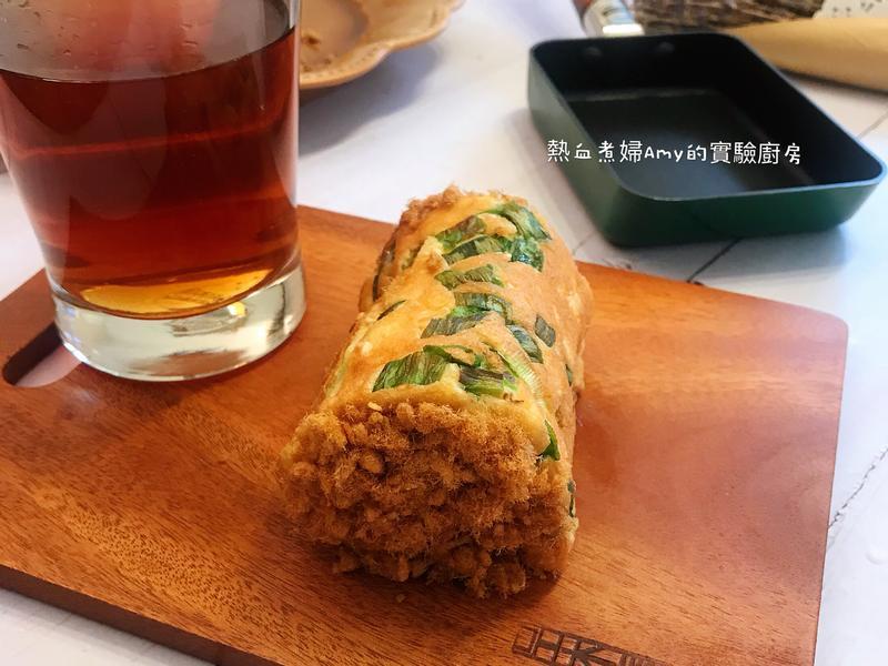 (用玉子燒鍋做)香蔥肉鬆蛋糕捲