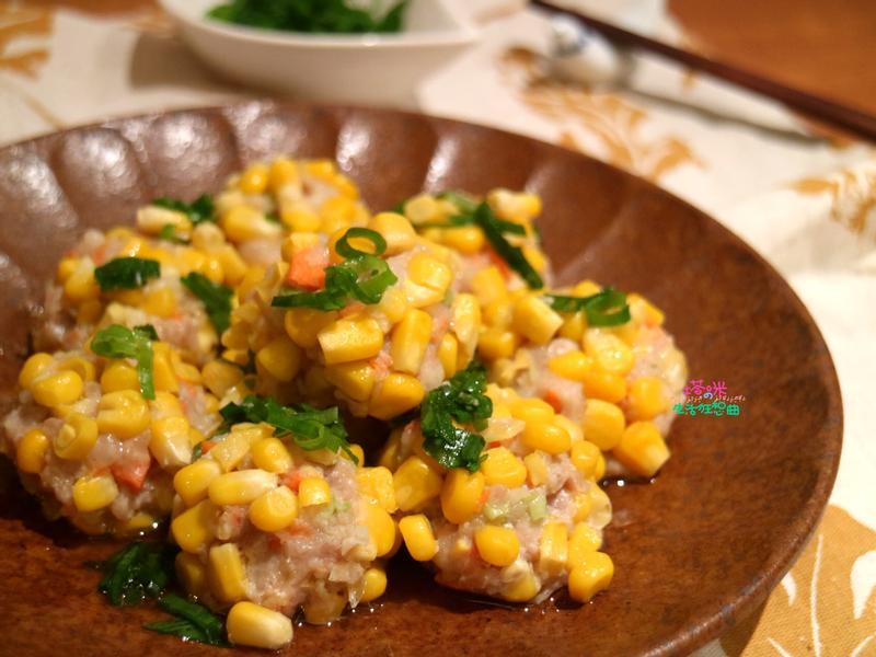 玉米鮮肉丸子【蒸氣烘烤爐大黑食譜】