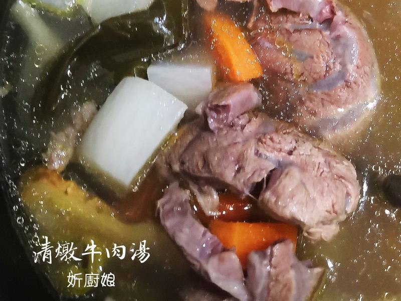 電子鍋清燉牛肉麵