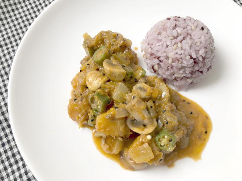 印度五香南瓜秋葵咖哩(蔬食版)