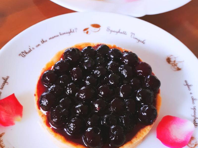 藍莓烤布蕾塔